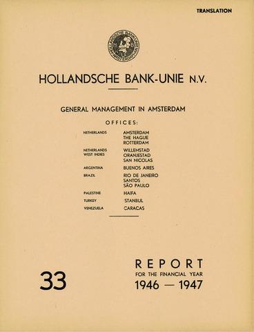 Hollandsche Bank-Unie 1946
