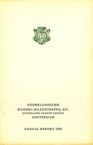 Nederlandsche Handel-Maatschappij 1958