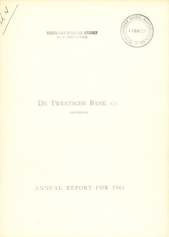 Twentsche Bank 1961