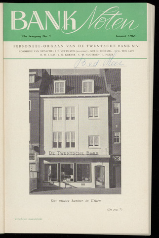 De Twentsche Bank - Banknoten 1961