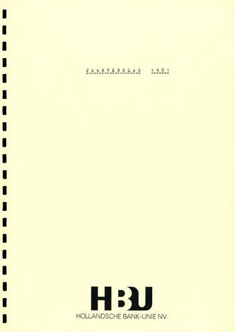 Hollandsche Bank-Unie 1981