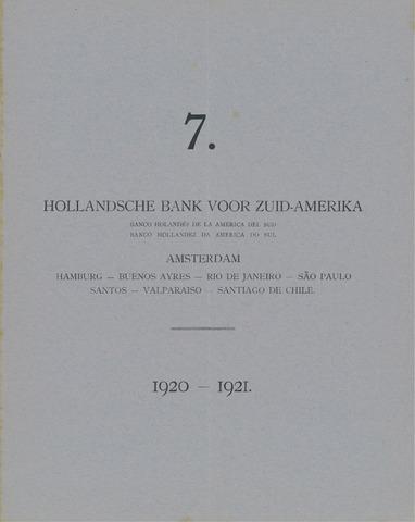 Hollandsche Bank voor Zuid-Amerika 1920