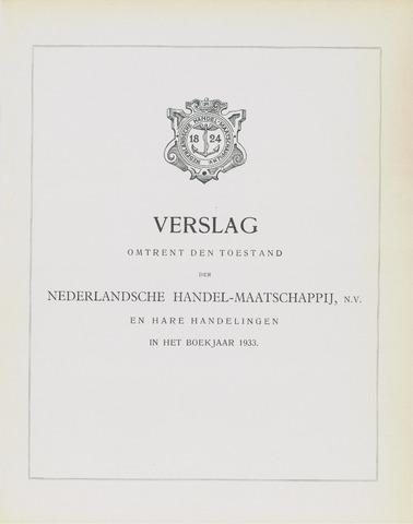 Nederlandsche Handel-Maatschappij 1933