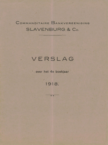 Slavenburg's Bank 1918