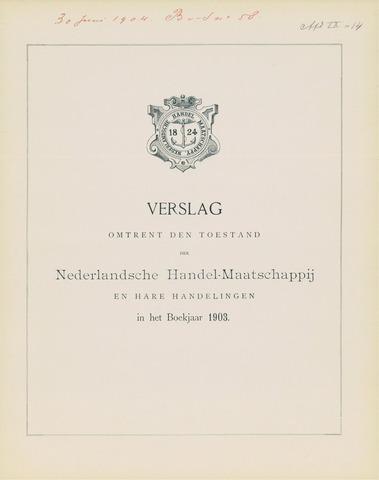 Nederlandsche Handel-Maatschappij 1903