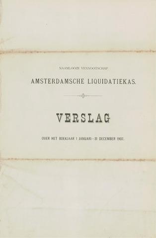 Amsterdamsche Liquidatiekas - Amsterdamsche Goederenbank 1907