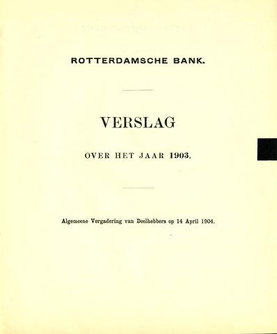 Rotterdamsche Bank 1903