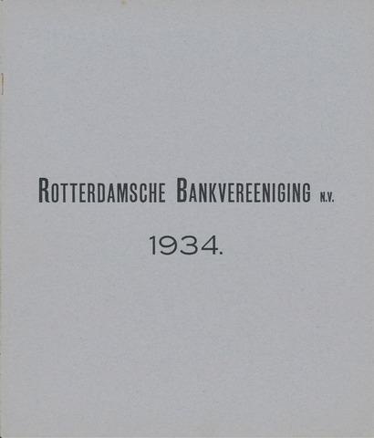 Rotterdamsche Bank 1934
