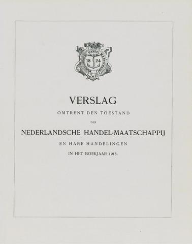 Nederlandsche Handel-Maatschappij 1915