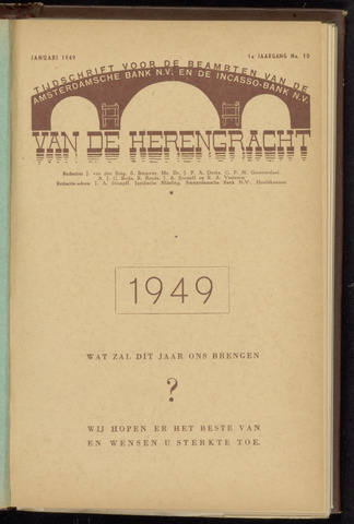 Amsterdamsche Bank - Van de Herengracht 1949