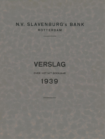 Slavenburg's Bank 1939