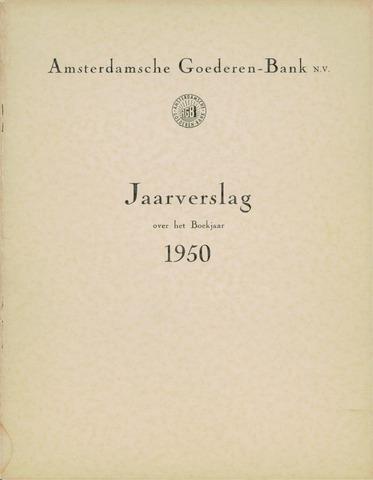 Amsterdamsche Liquidatiekas - Amsterdamsche Goederenbank 1950