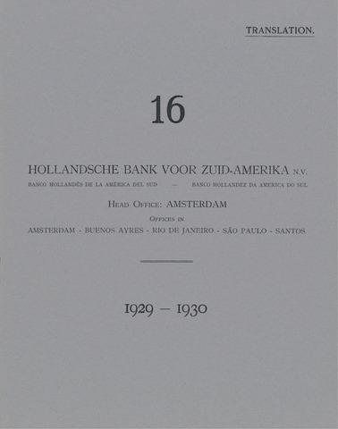 Hollandsche Bank voor Zuid-Amerika 1929