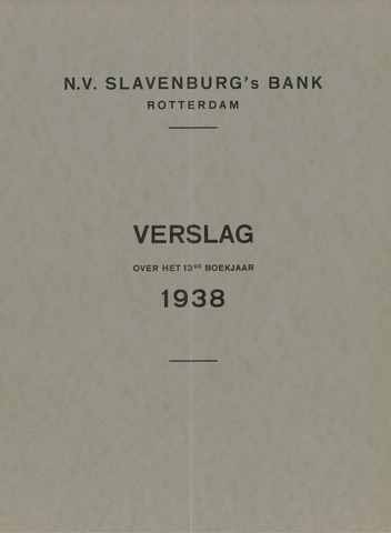Slavenburg's Bank 1938