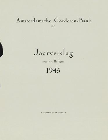 Amsterdamsche Liquidatiekas - Amsterdamsche Goederenbank 1945-01-01