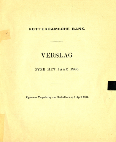 Rotterdamsche Bank 1906