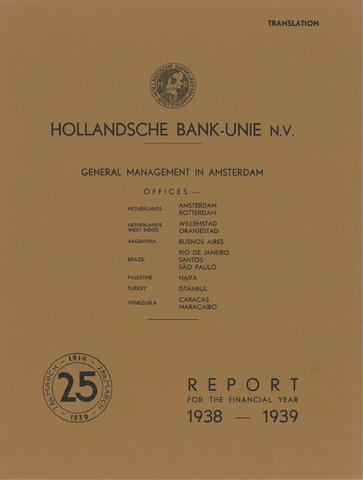 Hollandsche Bank-Unie 1938