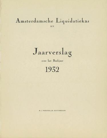 Amsterdamsche Liquidatiekas - Amsterdamsche Goederenbank 1932-01-01