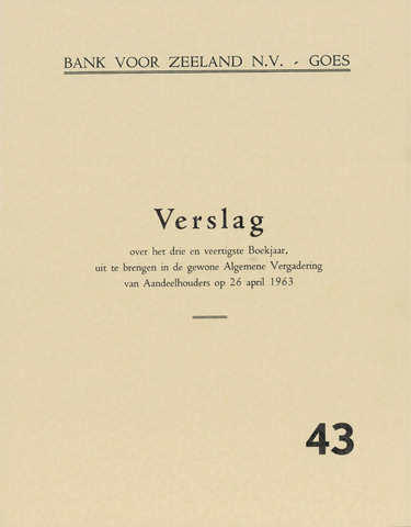Bank voor Zeeland 1962