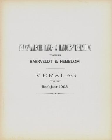 Transvaalsche Bank- en Handelsvereeniging 1903