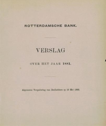Rotterdamsche Bank 1881