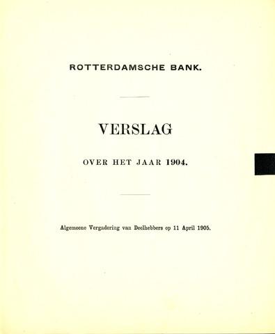 Rotterdamsche Bank 1904