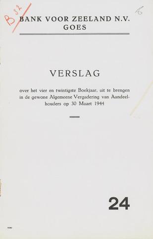 Bank voor Zeeland 1943