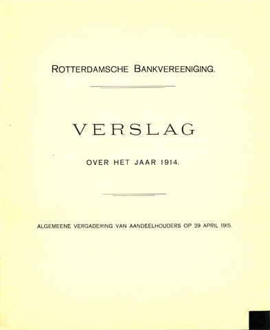 Rotterdamsche Bank 1914