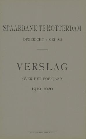 Spaarbank te Rotterdam 1919