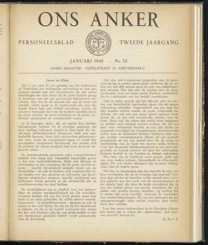 Nederlandsche Handel-Maatschappij - Ons Anker 1948