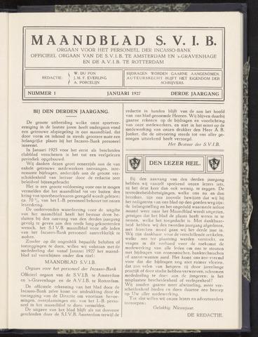 Incasso-Bank - Maandblad SVIB 1927