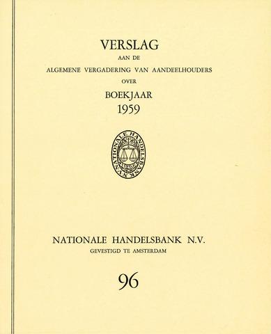 Nationale Handelsbank 1959