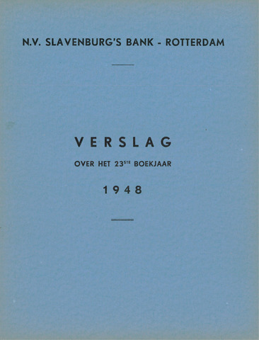 Slavenburg's Bank 1948