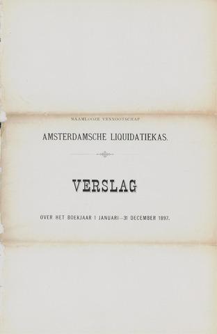 Amsterdamsche Liquidatiekas - Amsterdamsche Goederenbank 1897