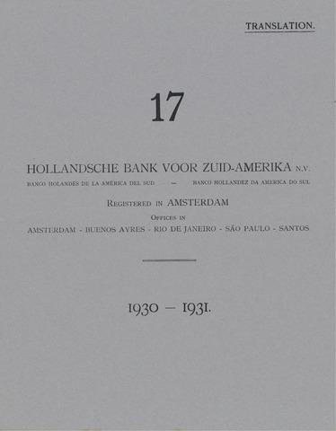 Hollandsche Bank voor Zuid-Amerika 1930