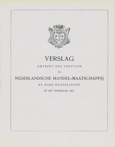 Nederlandsche Handel-Maatschappij 1927