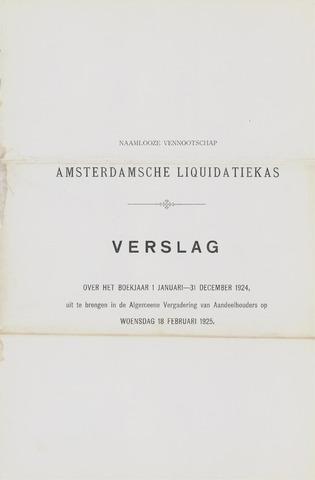 Amsterdamsche Liquidatiekas - Amsterdamsche Goederenbank 1924