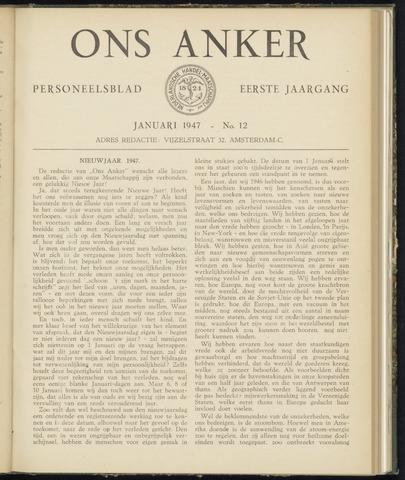 Nederlandsche Handel-Maatschappij - Ons Anker 1947
