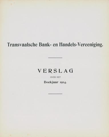 Transvaalsche Bank- en Handelsvereeniging 1914