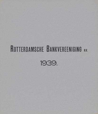 Rotterdamsche Bank 1939
