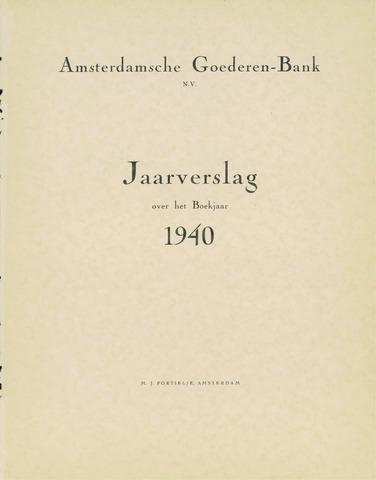Amsterdamsche Liquidatiekas - Amsterdamsche Goederenbank 1940