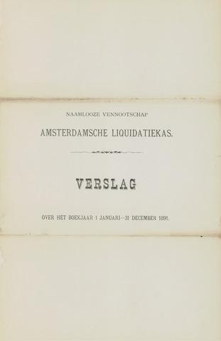 Amsterdamsche Liquidatiekas - Amsterdamsche Goederenbank 1891