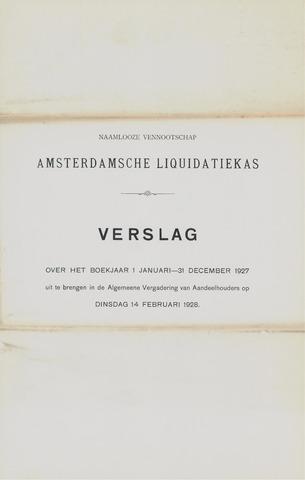 Amsterdamsche Liquidatiekas - Amsterdamsche Goederenbank 1927