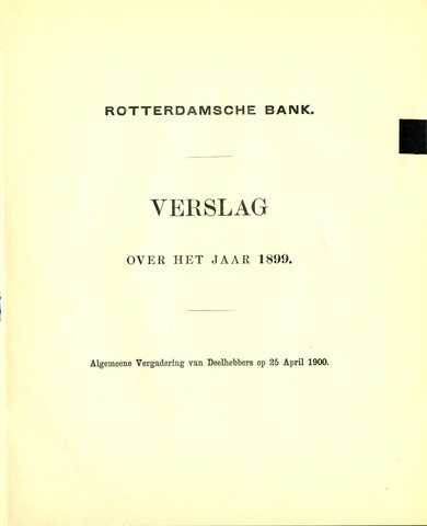 Rotterdamsche Bank 1899