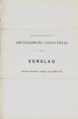 Amsterdamsche Liquidatiekas - Amsterdamsche Goederenbank 1916