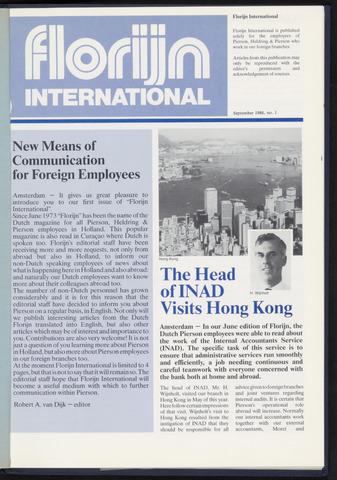 Pierson, Heldring & Pierson - Florijn International 1986