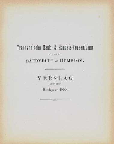Transvaalsche Bank- en Handelsvereeniging 1906
