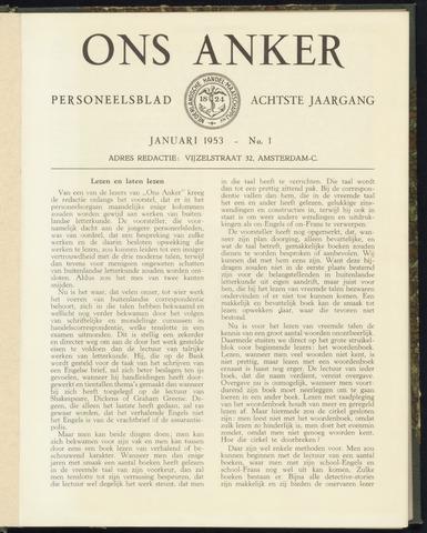 Nederlandsche Handel-Maatschappij - Ons Anker 1953