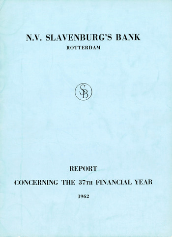 Slavenburg's Bank 1962