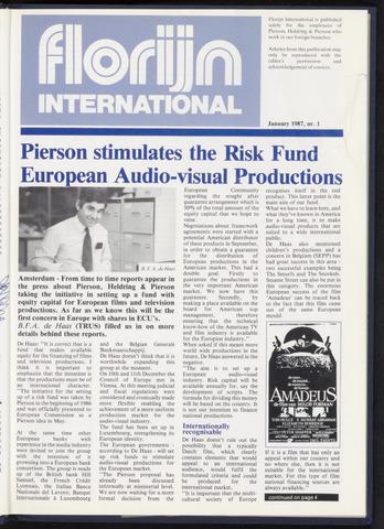 Pierson, Heldring & Pierson - Florijn International 1987